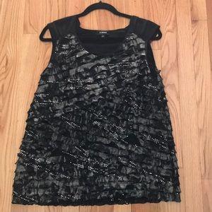 Black dressy sleeveless top